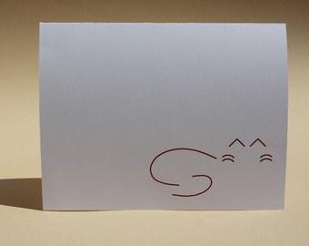 Cat - Brown - Custom Blank Notecards - Set of 8
