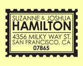 personalized custom wood handle address stamp - POSTAGE STAMP DESIGN
