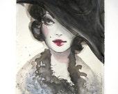 Madame - Original painting - Woman Retrò