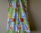 Diaper Stacker, Alphabet Patch Fabric with animals