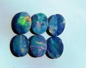 Set of 6 High Fire Opal Doublets