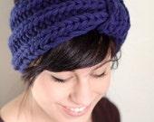 deep blue vintage inspired headband
