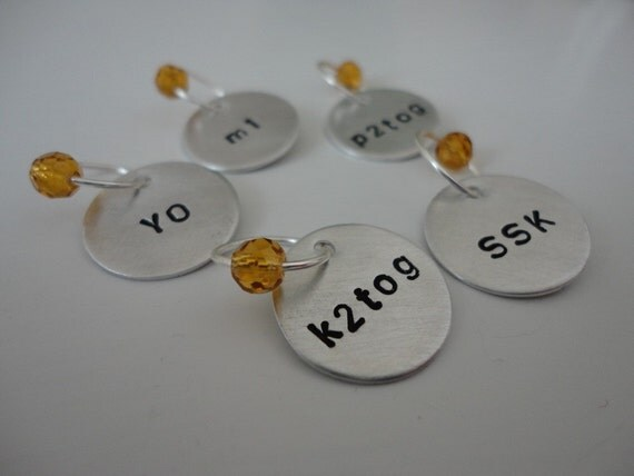 Caramel - Snag Free Knitting Abbreviation Stitch Markers - Fit up to size 10.5 US (6.5 mm)