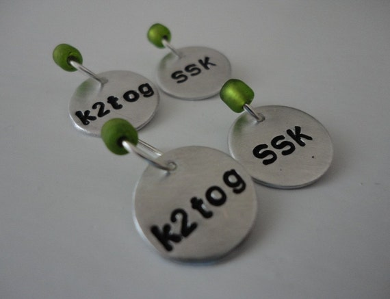 Avocado - Snag Free Knitting Sock Decrease Stitch Markers - Fit up to size 6 US (4.25 mm)