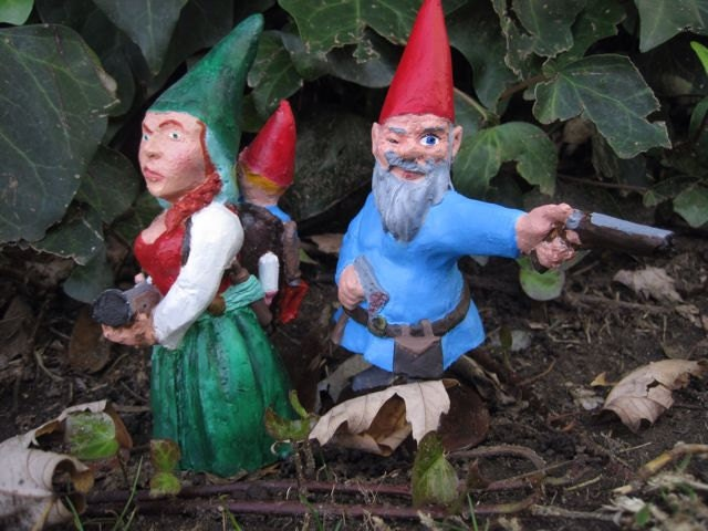 Gnome In Garden: Zombie Gnomes: The Family Pack