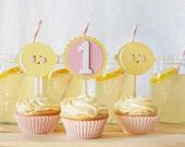 Pink Lemonade Cupcake Toppers