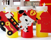 Sound the Alarm - Firetruck Favor Tags