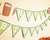 TOUCHDOWN Football Happy Birthday Banner