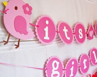 Sweet Tweet Bird Baby Shower Banner
