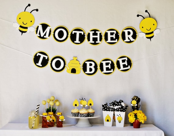 items similar to mother to bee baby shower party package on etsy