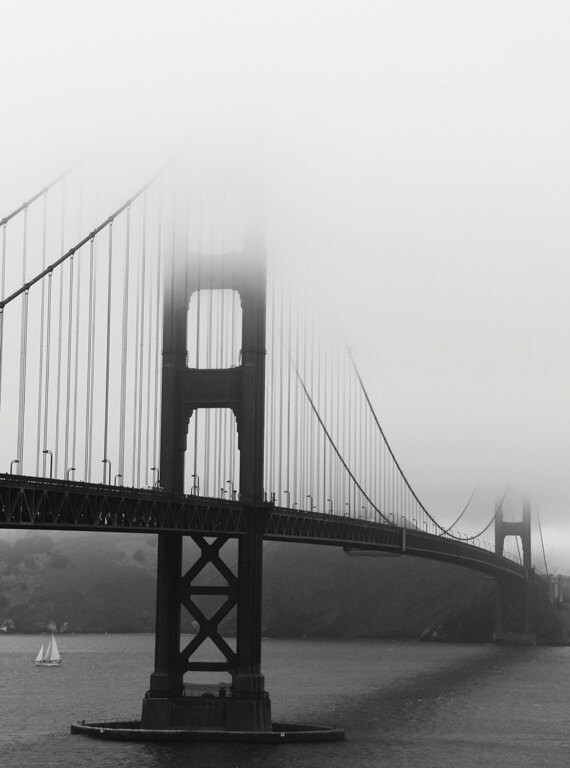 San Francisco Golden Gate Bridge - 11 x 14 Fine Art Photography Print - San Francisco Wall Art - Home Decor