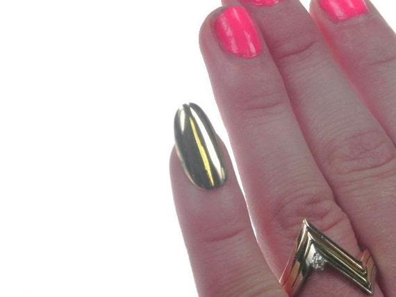 80 S 14kt Solid Gold Fingernail For Pinky Or Forefinger