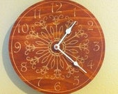 10 Inch Carved Wood Wall Clock