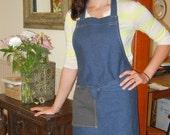 Wyatt unisex work apron cotton denim