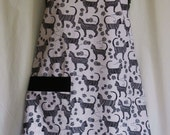 Black and White Cat Lovers Apron
