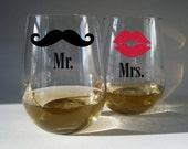 Stemless White Wine Glasses - set of 2