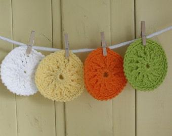 Taste of Summer Cotton Bath Scrubbies - Set of 4