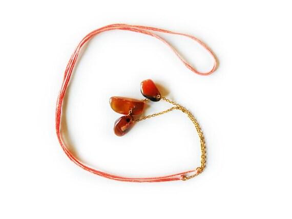 three's a charm - semi-precious stone necklace