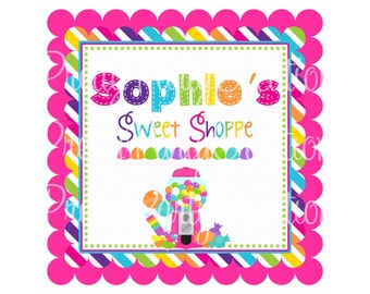 SWEET SHOPPE welcome sign - YOU Print - red or pink