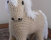 Pretty  Palomino - Handmade Crochet Plush Toy Pony - Made to Order
