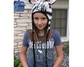 Delightfully Adorable Crochet Zebra Earflap Hat