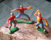Vintage Baseball Cake Toppers - Boy Birthday Cupcake Toppers - 3 pieces