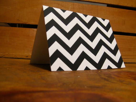 Black and Gold Chevron Cards