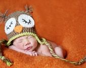 Reserved for Kat- Sleepy Owl hat