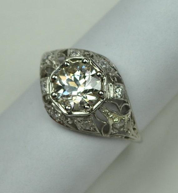 Lacy Edwardian Diamond Engagement or Wedding Ring