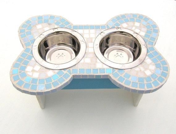 Mosaic Dog Feeder, medium to ex-large dog feeder, elevated dog bowls