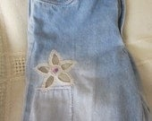 Vintage Jeans With Flower Appliques and sequins from franstradingpost