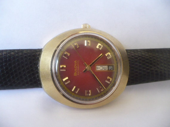 Mens Watch Bulova 1974 Automatic Mid Century