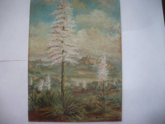 Vintage Oil Painting Southwest Desert