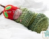 Mr Caterpillar Hat and Cocoon, Very Hungry Caterpillar Inspired,Very hungry caterpillar photo prop,