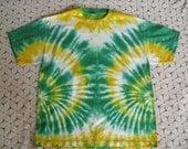 Tie dye XL shirt, Green Bay Packers- green, banana, white