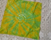 Tie dye bandana in green and yellow- or any color(s) you desire- St. Patrick's Day, 300
