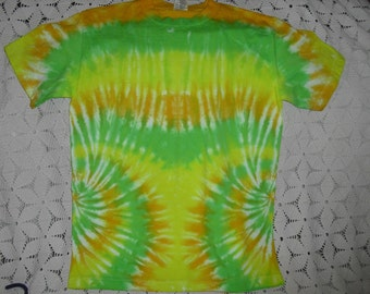 SALE!!  Tie dye Adult Small shirt  in hues of lime, lemon, and banana  CLEARANCE!!