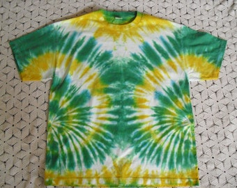 Tie dye XL shirt, Green Bay Packers- green, banana, white; Can be dyed in all sizes- give me a week, and I'll have it shipped to you! 450