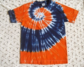 Tie dye shirt- Small adult shirt available TODAY-  Navy and Orange mega-spiral, 400