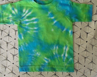 2T tie dye tee!  CLEARANCE!!  Lime and turquoise for the brightest toddler on the block!