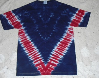 sale!!  Tie dye Adult Medium shirt - Patriotic V Track