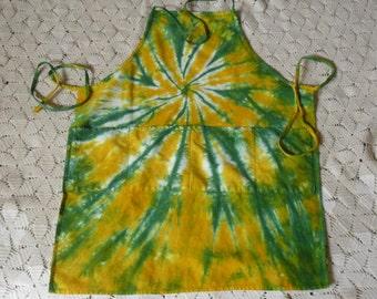 Tie dye apron adult large