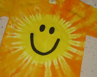 Tie dye shirts- YOUTH sizes- 4T or Youth XS;  Smiley Face Sunshine!!
