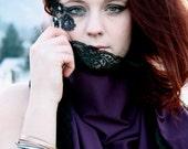 SALE  SCARF Dark Purple / Violet   Scarf/Shawl/Collar/Skirt/Shirt