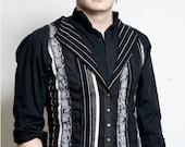 CUSTOM TAILCOAT Patchwork Vest with Corset Sides & Back Adjustable Sizing Mens