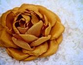 SOPHIA: Gold Peony Hair Flower