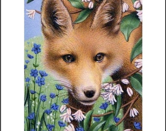 ACEO art print red fox