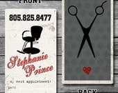 Hair Stylist / Barber Custom Business Cards - Digital File