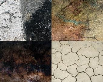 """Cracks Textures Digital Scrapbook Paper Pack - 8 Papers - 300 DPI - 12"""" x 12"""""""