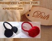 RESERVED LISTING:  KPIERRE1266 -- two pairs of Brady Ear Muffs black and red
